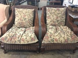 Biltmore Estate style wooden wicker chairs