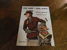 1935 Ole Miss - Miss State Program.  Great condition