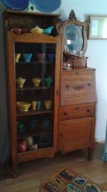 Antique Curio/Secretary desk