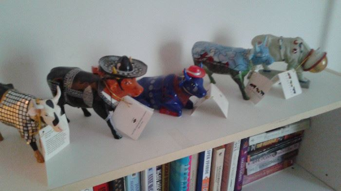 """this is part of the """"fun Stuff"""", cow parade figurines"""