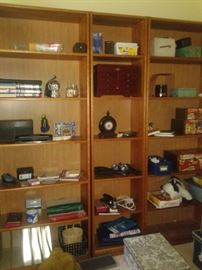 We have plenty of very nice bookcases