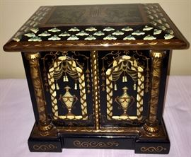 One of the many lacquered and hand painted wooden boxes that make this sale such a standout!!!
