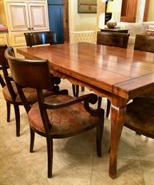 "FRENCH COUNTRY dining table .....10' 10"" with leaves out on each end  or 5' 10"" without leaves  (3' 6"" wide) lets out TWICE its LENGTH to seat a big crowd!!!!!"