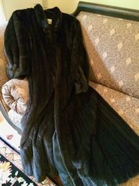 Boy, oh, Boy!!!!  Look at this stunning full-length black mink coat from Ruth's!!!