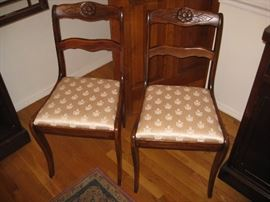 Flower & Leaf matching side chairs