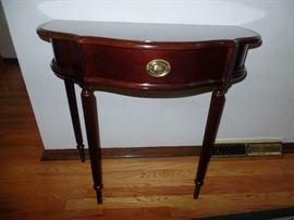 Mahogany,  Half round table