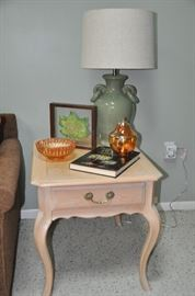 """Bleached Oak rectangular End Table with drawer by Hammery.  22"""" W x 22"""" H x 27"""" D"""