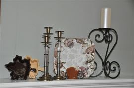 Many candlestick sets and porcelain pieces to choose from!