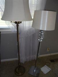 2 floor lamps 5' & 4 1/2' tall