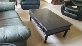 black cocktail table   $60