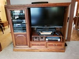 Flat screen tv and media center