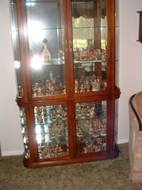 Fantastic display case filled with Hummells