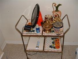 neat vintage metal serving cart