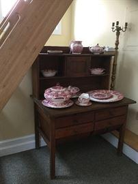 Antique baker's cabinet