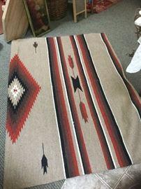 """Navajo rug ( shown partially) 87"""" x 62"""""""