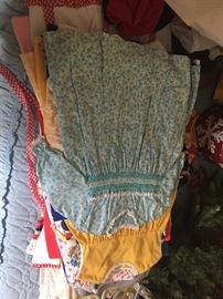 lots of vintage childrens clothing from baby to teen