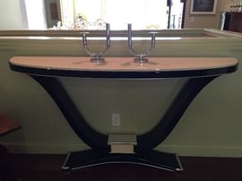 This Piece is Gorgeous !  Entry Art Deco U Table ( But you could put it anywhere......