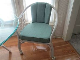 One of two chairs to dinette table