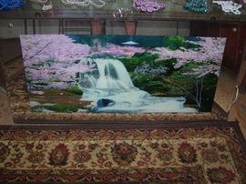 Electric waterfall.