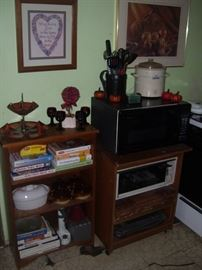 Cabinets, books and more