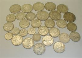 pre 1967 Canadian silver coins