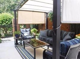 Sunbrella outdoor furniture - shade screen not for sale