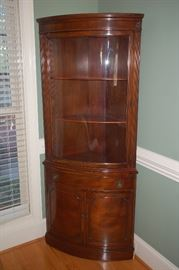 Beautiful corner curio cabinet