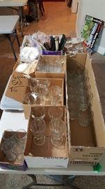 Sets of glasses.