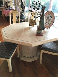 Maitland-Smith octagonal table, Made in Cuba.