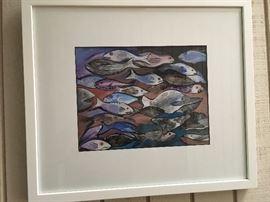 """Swimming Upstream"" by Louise LaBauve Saxon"