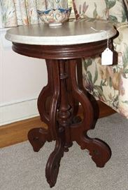 Victorian marble-top table