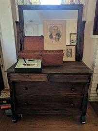 Chest with tilt mirror, Limited Edition first printing of Pres. Roosevlt