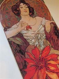 Vintage Czechoslovakian Alfons Mucha Lady Lithos