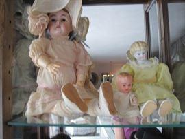 antique bisque & china head dolls