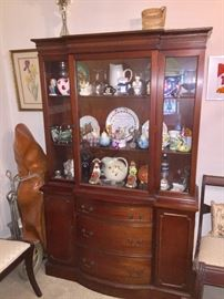 Family is keeping the China Cabinet but all contents are for sale.