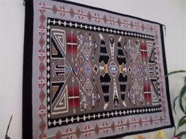 "Navajo-Weaver Lillian Jones   Size 45.5 in. x 58"" Sanders, Arizona"