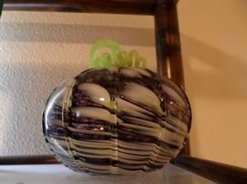 Palm Springs Art Museum Collective Hand Blown Glass Pumpkin