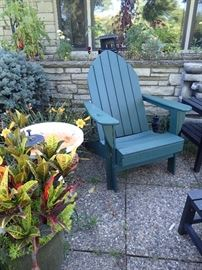 BY THE YARD CHAIRS & OTTOMANS X 2 PLUS SIDE TABLES