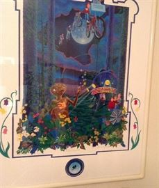 ET 10th Anniversary Remarqye Framed with COA by Melanie Taylor Kent.