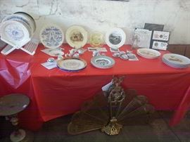 Commemorative plates - World's Fair, Christmas, Currier & Ives, lots. Also more Childrens' Tea Sets