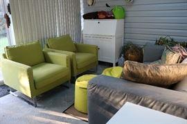 Ikea Hemnes Secretary, Mellby Armchair chairs