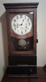 Antique International time clock
