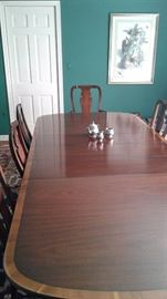 Beautiful banded Mahogany dining table