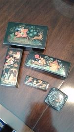 Selection of Russian boxes