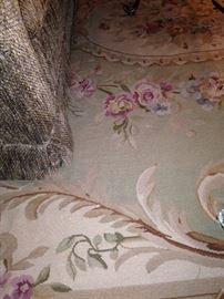 9  1/2 feet x 11  3/4 feet antique Aubusson floral rug