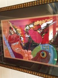 Colorful abstract framed art by Lee White
