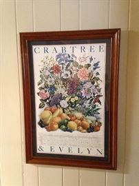 Crabtree & Evelyn framed poster