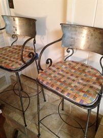 Two of four matching bar stools