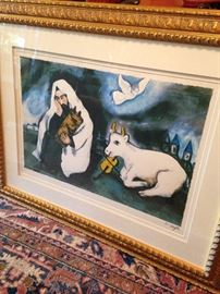 """Solitude"" lithograph by Marc Chagall (born in Russia 1887 - died Paris 1985)"