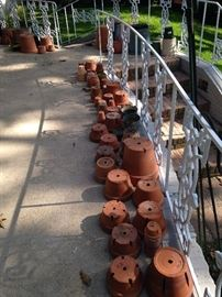 Some of the many clay pots